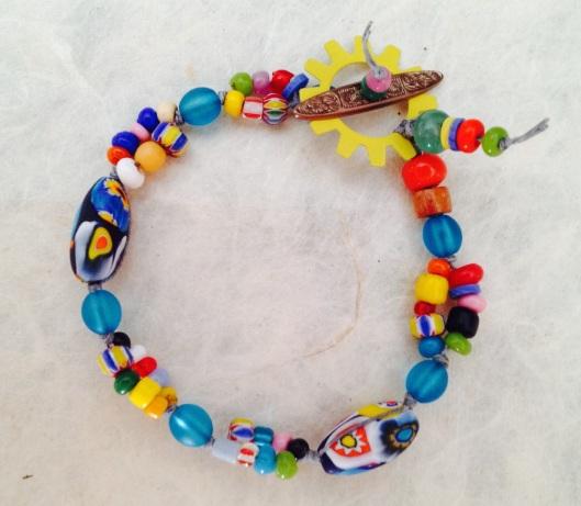 BeadLove - colorful linen bracelet