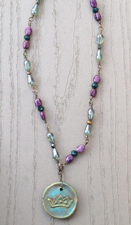 BeadLove - Royal Feathers necklaceMC