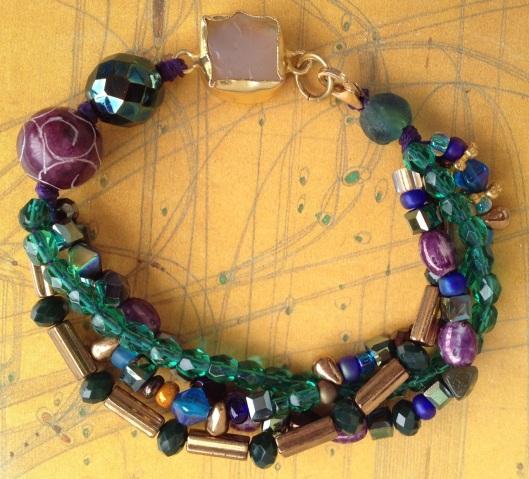 BeadLove - Royal Feathers bracelet