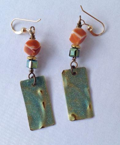 LH bead earrings