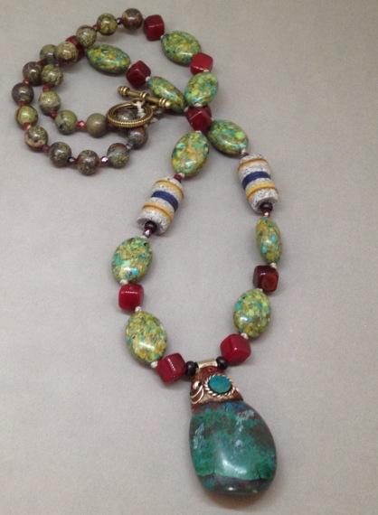 BeadLove turquoise pendant necklace