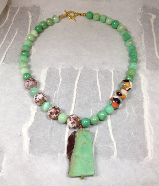 chrysoprase with lampwork