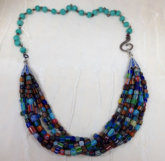 multi strand mixed glass by BeadLove