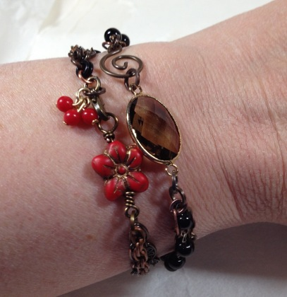 stacking chain bracelets on