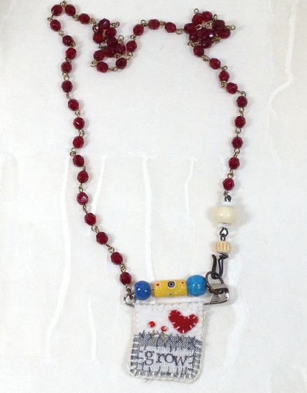BeadLove necklace with Maire Dodd textile