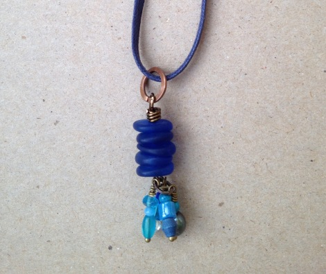 BeadLove - Hidden Cove sea glass pendant