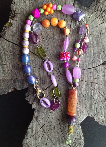 BeadLove - Mystery Challenge necklace colorful