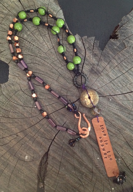 BeadLove - Starling Wing copper necklace