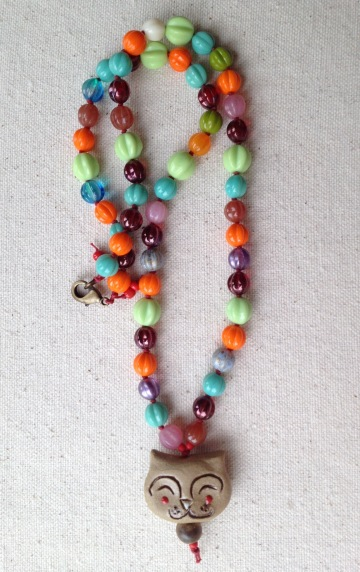 BeadLove - Gaea cat necklace