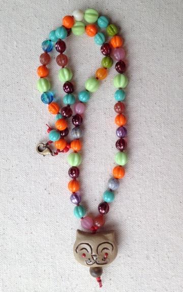 BeadLove - Gaea cat necklace