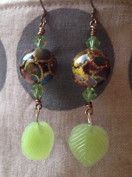 BeadLove - Luna Moth earrings