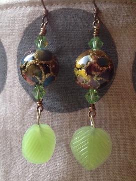 BeadLove - Luna Moth earrings