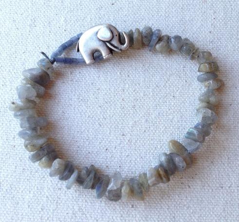 BeadLove - Storm Cloud elephant bracelet 2