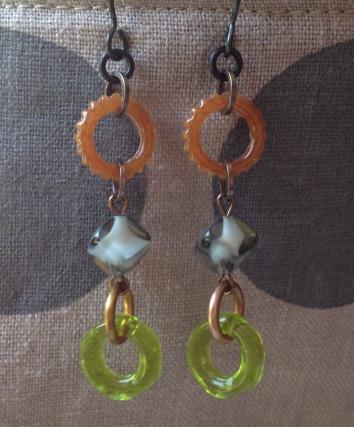 BeadLove - Storm Cloud ring earrings