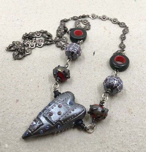 Same steampunk necklace as in previous photo.