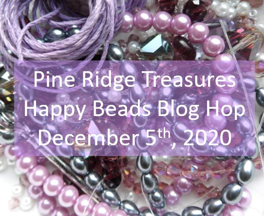 Pile of purple beads showing name of blog hop.
